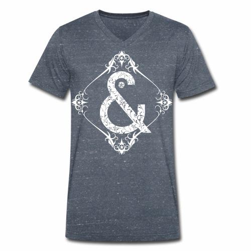 Floral & ... - Camiseta ecológica hombre con cuello de pico de Stanley & Stella