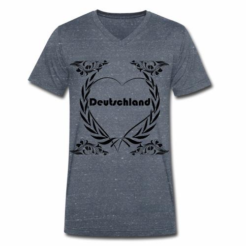 Ich liebe Deutschland - Männer Bio-T-Shirt mit V-Ausschnitt von Stanley & Stella