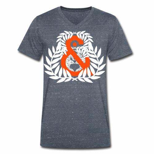 Aureola & ... - Camiseta ecológica hombre con cuello de pico de Stanley & Stella
