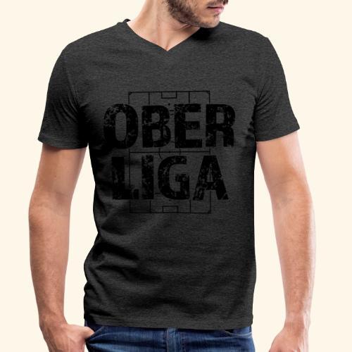 OBERLIGA im Fußballfeld - Männer Bio-T-Shirt mit V-Ausschnitt von Stanley & Stella