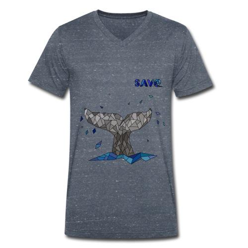 Whale - Mannen bio T-shirt met V-hals van Stanley & Stella