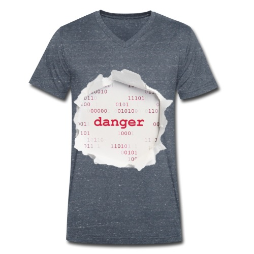 Hacking - Ekologisk T-shirt med V-ringning herr från Stanley & Stella