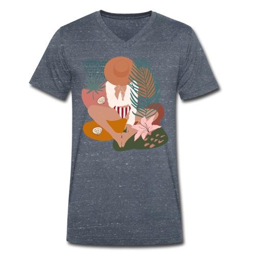 Summer woman - T-shirt ecologica da uomo con scollo a V di Stanley & Stella