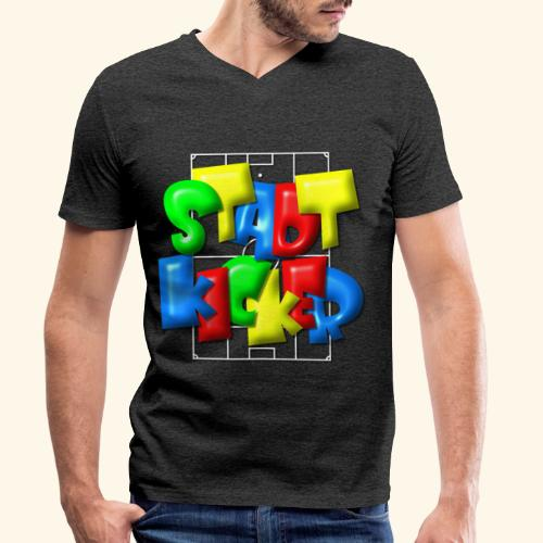 Stadtkicker im Fußballfeld - Balloon-Style - Männer Bio-T-Shirt mit V-Ausschnitt von Stanley & Stella