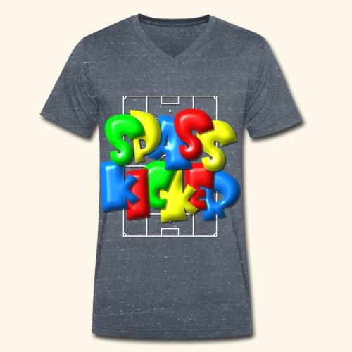 Spass Kicker im Fußballfeld - Balloon-Style - Männer Bio-T-Shirt mit V-Ausschnitt von Stanley & Stella