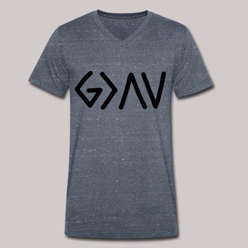 Dios es lo más grande - Camiseta ecológica hombre con cuello de pico de Stanley & Stella