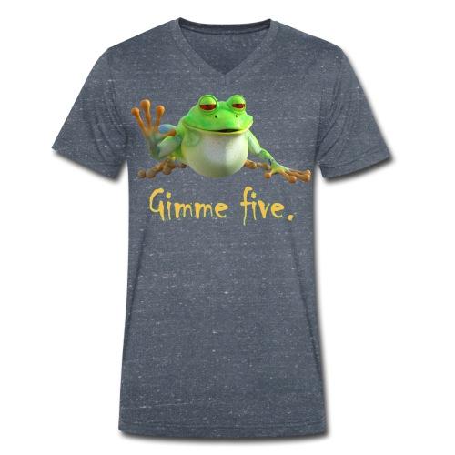 Gimme five - Männer Bio-T-Shirt mit V-Ausschnitt von Stanley & Stella
