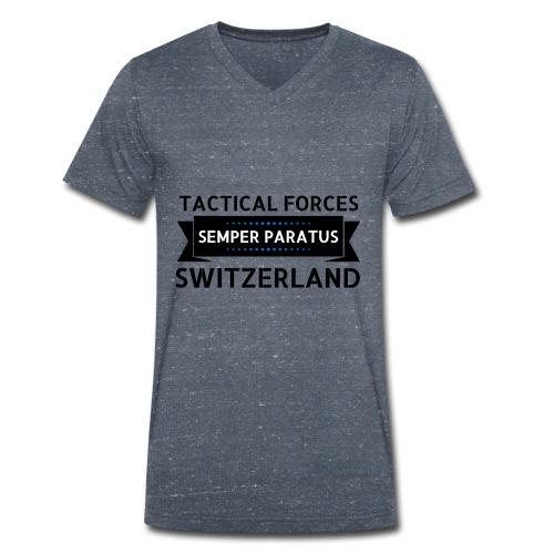 Semper Paratus 2 noir - T-shirt bio col V Stanley & Stella Homme