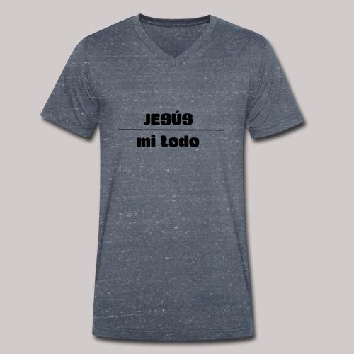 Jesús, mi TODO - Camiseta ecológica hombre con cuello de pico de Stanley & Stella