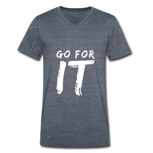 GO FOR IT - Männer Bio-T-Shirt mit V-Ausschnitt von Stanley & Stella