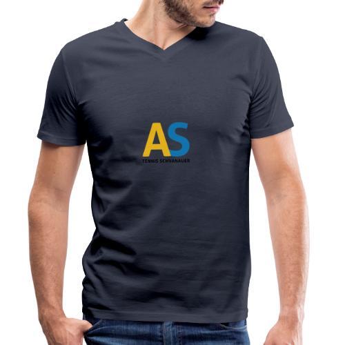 as logo - T-shirt ecologica da uomo con scollo a V di Stanley & Stella