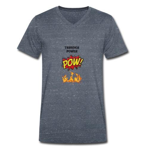 Tronderpower - Økologisk T-skjorte med V-hals for menn fra Stanley & Stella