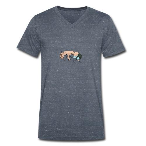 Kletter skizze - Männer Bio-T-Shirt mit V-Ausschnitt von Stanley & Stella