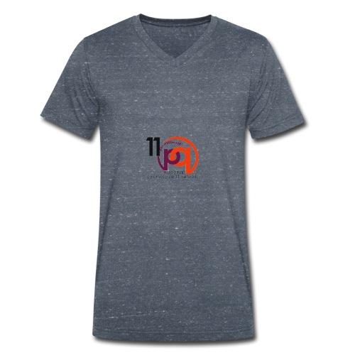 11q_logo_century - Männer Bio-T-Shirt mit V-Ausschnitt von Stanley & Stella