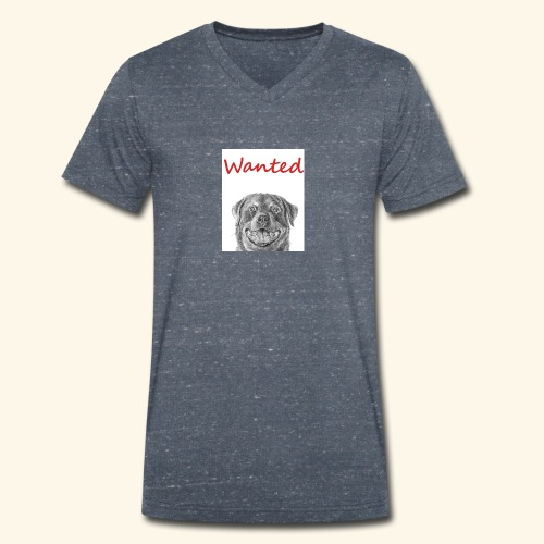 WANTED Rottweiler - Men's Organic V-Neck T-Shirt by Stanley & Stella