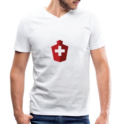 Schweizer Flagge - Schweiz - Männer Bio-T-Shirt mit V-Ausschnitt von Stanley & Stella