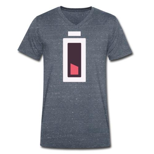 Batterie - Plus d'énergie... - T-shirt bio col V Stanley & Stella Homme