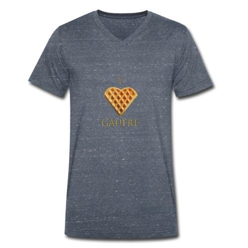 i love gaufre - T-shirt bio col V Stanley & Stella Homme