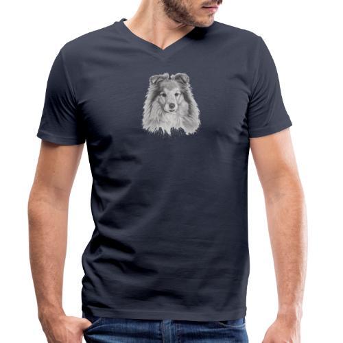 shetland sheepdog sheltie - Økologisk Stanley & Stella T-shirt med V-udskæring til herrer