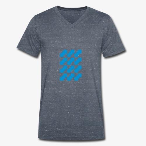 Fluid logo - T-shirt ecologica da uomo con scollo a V di Stanley & Stella