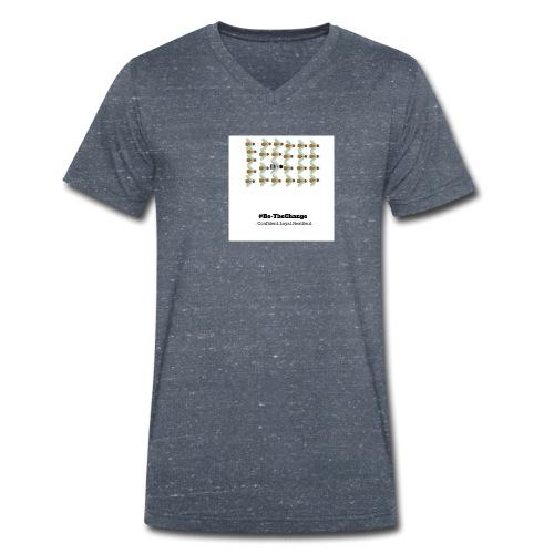 BeTheChange 1 - Men's Organic V-Neck T-Shirt by Stanley & Stella