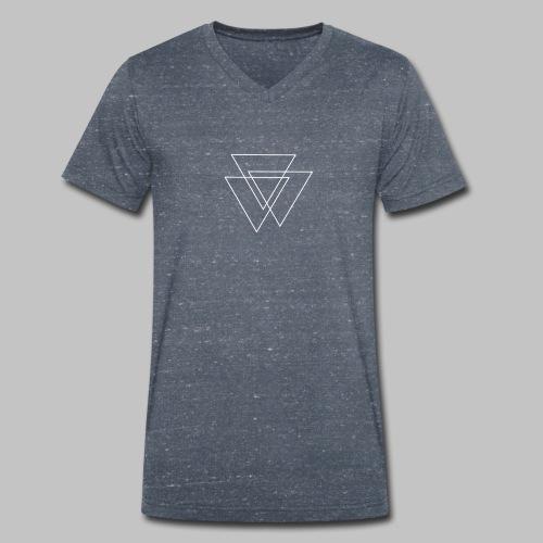 triangles Valknut - Men's Organic V-Neck T-Shirt by Stanley & Stella