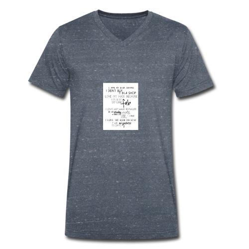 I LOVE MY HAIR - Men's Organic V-Neck T-Shirt by Stanley & Stella