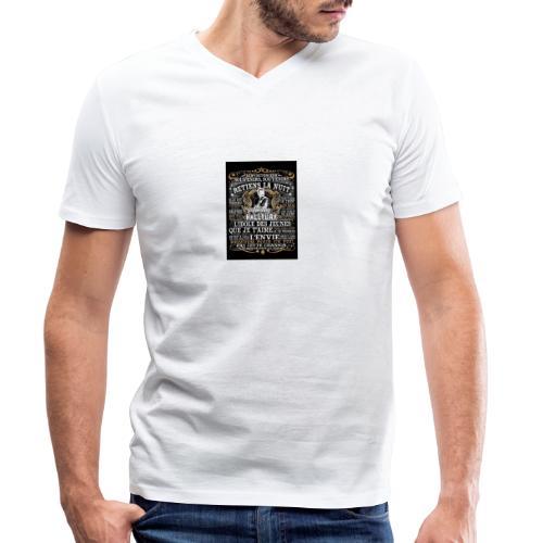 Johnny hallyday diamant peinture Superstar chanteu - T-shirt bio col V Stanley & Stella Homme