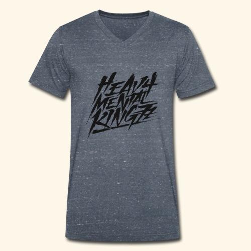 Heavy Mental KingZz Logo - Männer Bio-T-Shirt mit V-Ausschnitt von Stanley & Stella