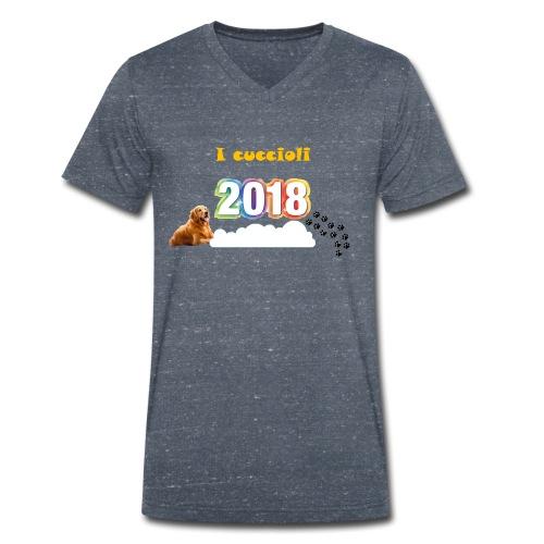 Magliette ufficiali 2018 dei cuccioli - T-shirt ecologica da uomo con scollo a V di Stanley & Stella