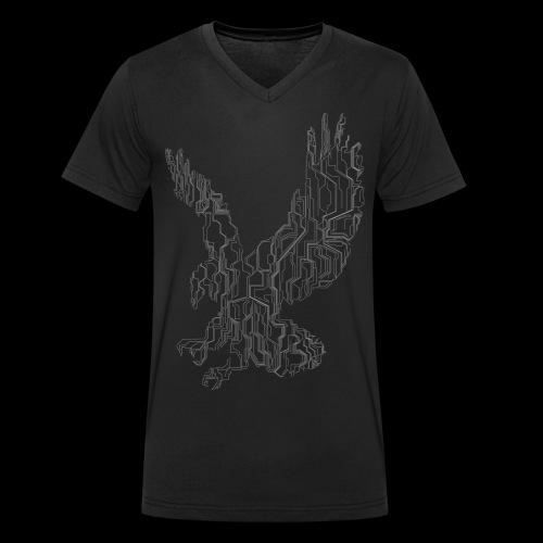 Circuit eagle White - Økologisk Stanley & Stella T-shirt med V-udskæring til herrer