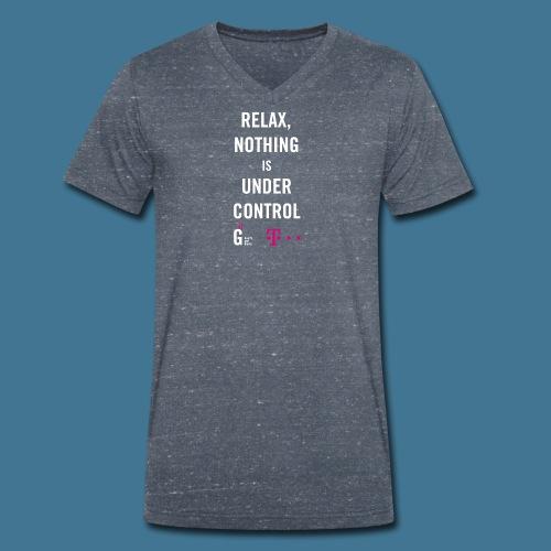 Relax weiss telekom - Männer Bio-T-Shirt mit V-Ausschnitt von Stanley & Stella