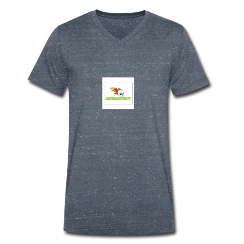 GREEN LIGHT SHIRTS LOGO - Men's Organic V-Neck T-Shirt by Stanley & Stella