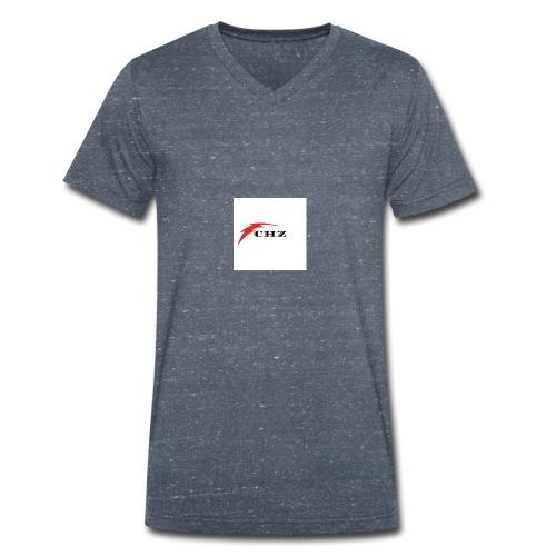 CHZ LAZER - T-shirt ecologica da uomo con scollo a V di Stanley & Stella