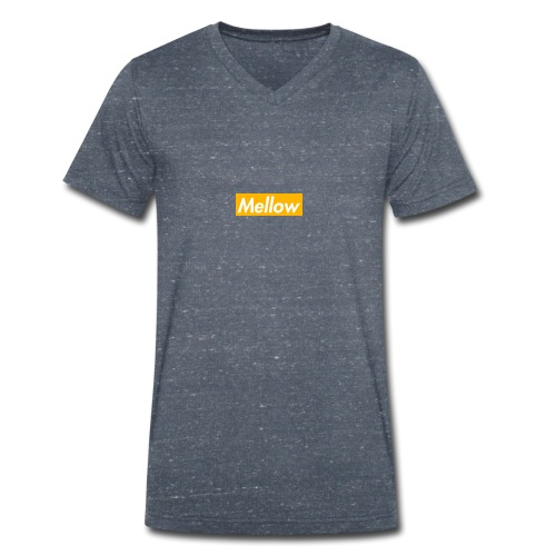 Mellow Orange - Men's Organic V-Neck T-Shirt by Stanley & Stella