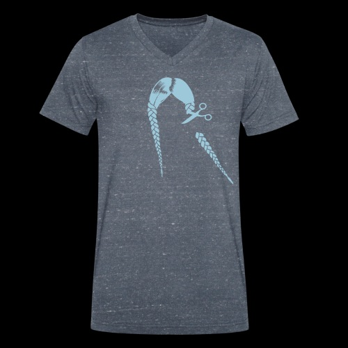 Greta FFF Fridays for future & Fridays for Hubraum - Männer Bio-T-Shirt mit V-Ausschnitt von Stanley & Stella