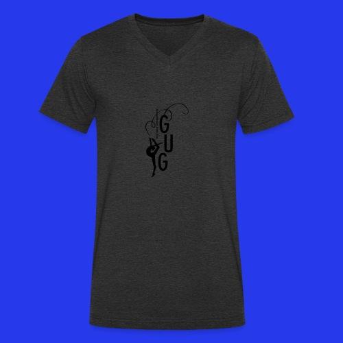 GUG logo - Männer Bio-T-Shirt mit V-Ausschnitt von Stanley & Stella