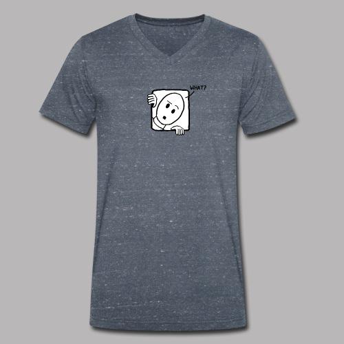 What? - Men's Organic V-Neck T-Shirt by Stanley & Stella