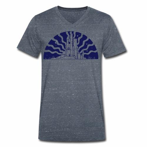 Fairytale Castle Sunrise - Männer Bio-T-Shirt mit V-Ausschnitt von Stanley & Stella