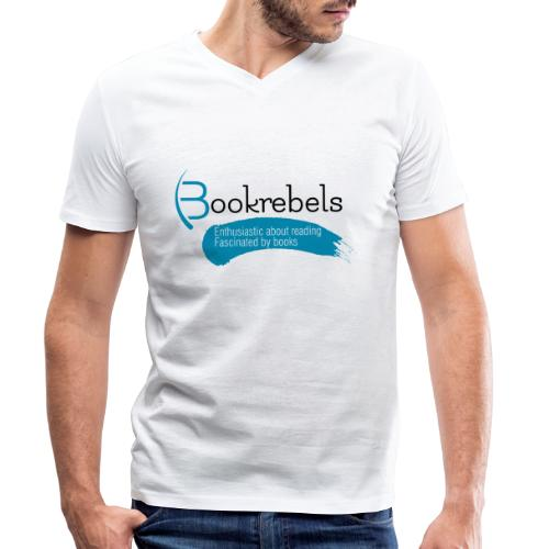 Bookrebels Enthusiastic - Black - Men's Organic V-Neck T-Shirt by Stanley & Stella