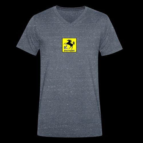 Offizielles LC Stuttgart Vereinslogo - Männer Bio-T-Shirt mit V-Ausschnitt von Stanley & Stella
