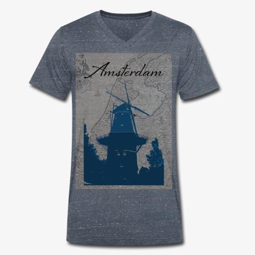 Amsterdam city - T-shirt ecologica da uomo con scollo a V di Stanley & Stella
