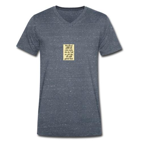 Das Leben ist ein Test - Männer Bio-T-Shirt mit V-Ausschnitt von Stanley & Stella