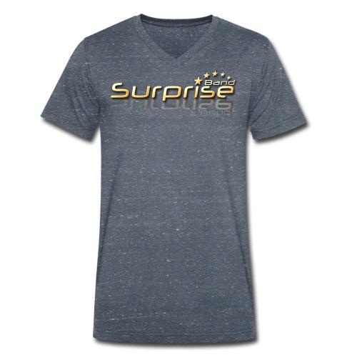 Surprise Band Logo Gold - Männer Bio-T-Shirt mit V-Ausschnitt von Stanley & Stella