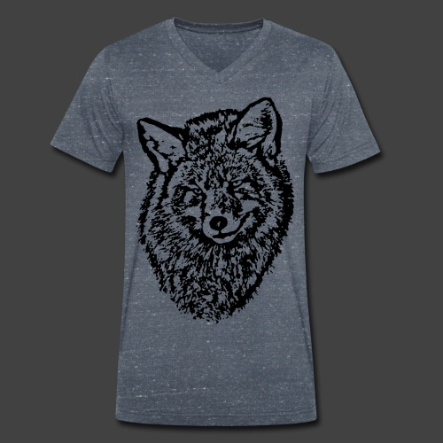 FOX1 - BLACK - Men's Organic V-Neck T-Shirt by Stanley & Stella