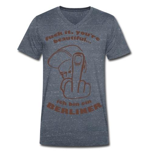 Fuck Beautiful - Männer Bio-T-Shirt mit V-Ausschnitt von Stanley & Stella