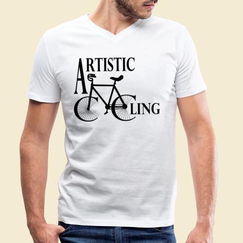 Kunstrad | Artistic Cycling - Männer Bio-T-Shirt mit V-Ausschnitt von Stanley & Stella