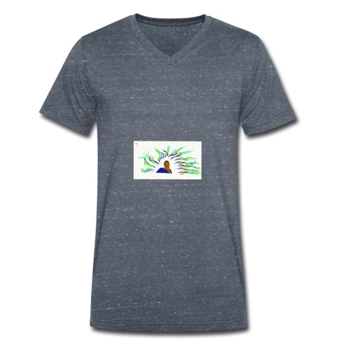 Project Drawing 1 197875703 - Men's Organic V-Neck T-Shirt by Stanley & Stella