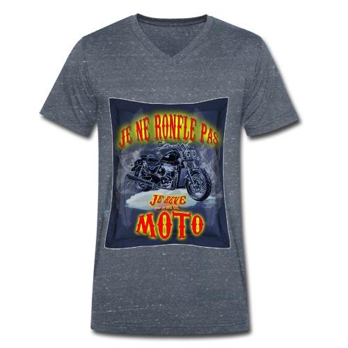 Un motard ne ronfle pas - T-shirt bio col V Stanley & Stella Homme