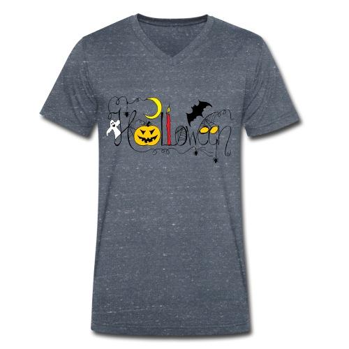 Halloween farbig - Männer Bio-T-Shirt mit V-Ausschnitt von Stanley & Stella